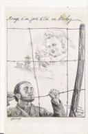 MIRAGE D'UN JOUR D'ETE AU STALAG (ILLUSTRATION POUR L'OEUVRE D'ENTRAIDE AUX PRISONNIERS DE GUERRE D'ANZIN  1942 - Weltkrieg 1939-45
