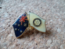 pin�s **  Rotary - Drapeau AUSTRALIE    **  Association international - aide -