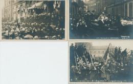 Novembre 1918 En Alsace. Visite De Poincaré à Strasbourg.  3 Cartes - Weltkrieg 1914-18