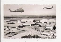 CP AVEC HELICOPTERE ET AVION SUR CAMP - Avions