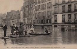 CPA PARIS 75 - Ravitaillement Quai Montebello - Inondations De Paris - Arrondissement: 05
