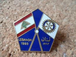 pin�s **  Rotary -  Lebanon 1993 - drapeau LIBAN **   Association international - aide -
