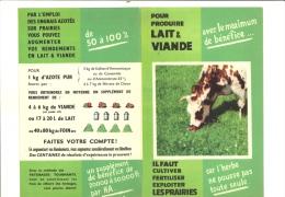 Feuillet Publi Information Agricole Fertiliser Les Prairies Pour Produire Lait Et Viande Syndicat Des Engrais Azotés - Agriculture