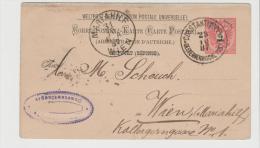A-L016/ P 60 II Retourpart Constantinople - Wien 1887 (Ganzsache) - Levante-Marken