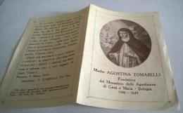 SANTINO MADRE AGOSTINA TOMASELLI MONASTERO AGOSTINIANE DI GESU' E MARIA BOLOGNA - Santini