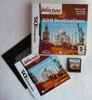 JEU NINTENDO DS - PETIT FUTE TRAVEL & PLAY 200 DESTINATIONS GUIDE DE VOYAGE INTERACTIF - Nintendo Game Boy