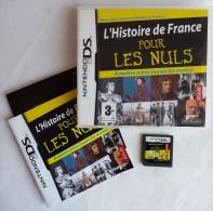 JEU NINTENDO DS - L'HISTOIRE DE FRANCE POUR LES NULS - Nintendo Game Boy