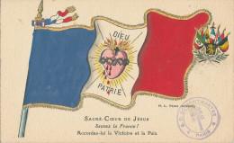 Sacré-Coeur De Jésus. Sauvez La France ! Accordez-lui La Victoire Et La Paix. Tampon De Montmartre - Sacré-Coeur