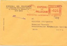 OSPEDALI PELLEGRINI  - 80134 - NAPOLI - 1980 - R/AMR - FTO 12X18 - TEMA TOPIC COMUNI D´ITALIA - STORIA POSTALE - Machine Stamps (ATM)
