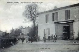 Cpa GAURIAC 33 Epicerie Loumeau Et Route De L' Eglise - France