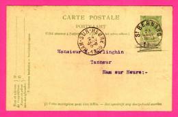 Entier Postal - Oblitération De St Bernard à Ham-sur-Heure - 1909 - 5 Centimes - SA Produits TANNANTS D'Hemixem - Entiers Postaux