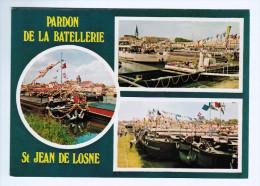 4153    CPM     SAINTJEAN DE LOSNE  : Multivues , Pardon De La Batellerie - Unclassified