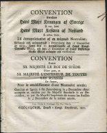1801 Sweden Russia Convention Le Roi De Suede L'Empereur De Toutes Les Russies Militaire Gustaf Adolph - Historical Documents