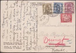 France Et Belgique 1939. Taxe De Poste Restante. Gedinne, Vallée De La Houille. Petit Sceau De L´état, 1 F Pour étranger - Géologie
