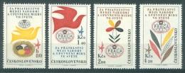 TCHECOSLOVAQUIE - MNH/*** LUXE. - 1962 - PRAGA 1962  - Mi 1341-1344 - Yv PA 53-56 -  Lot 11942 - Luftpost