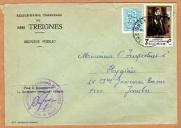 Enveloppe Brief Cover Administration Communale De Treignes - Belgique