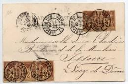 1901 - CP Avec N° 85 X5 De PARIS 22 R. DE PROVENCE - SAGE - 1877-1920: Semi Modern Period
