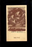 MENU Compagnie Générale Transatlantique French Line Repas Au Grand Hotel De Genève à Lons Le Saunier 1936 - Menu