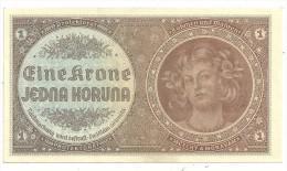 Bohemia Moravia 1 Korun 1940 UNC/AUNC Series A (No Specimen) - Cecoslovacchia