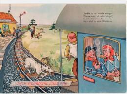 Auf Der Schwäb´sche Eisebahne - Station Gare Bahnhof - Trein Train Zug  Lokomotive - Geit Goat Chèvre - Stations - Met Treinen