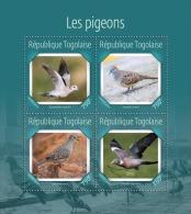 tg14619a Togo 2014 Birds Pigeons s/s