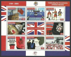GIBRALTAR 2004 - Bateaux, Drapeaux, Police, Soldats, 300e Ann Gibraltar Britannique - Feuillet Neufs // Mnh - Gibilterra
