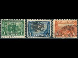 USA 1913: Nr. 203C - 205C - 206C° - Panama-Pazific-Austellung San Francisco - United States