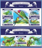 mld15306ab Maldives 2015 Birds Parrots 2 s/s