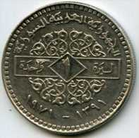 Syrie Syria 1 Pound 1971 - 1391 KM 98 PAYPAL ATTENDRE / WAITING - Syrië
