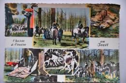 CPSM Chasse à Courre En Forêt - L'Hallali, Le Rendez-vous, Les Honneurs, La Curée, Le Relais - Hunting