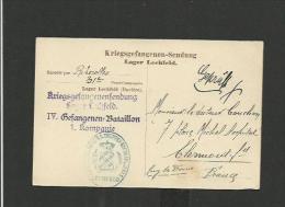 Carte Postale 1914 Camp De Prisonniers Français De LECHFELD - Lettres & Documents