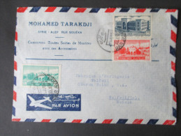 Luftpostbeleg Syrien 1953. Par Avion. Mohamed Tarakdji. Alep - Wolfwil Schweiz. - Syria