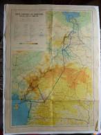 CARTE GENERALE DU CAMEROUN 1969  DIM  73 X 53 - Geographical Maps