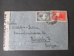 Argentinien 1943 Zensurbeleg Nach Zürich. Opened By Examiner 3432. Geöffnet Oberkommando Der Wehrmacht!! - Argentinien