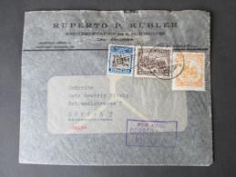Kolumbien 1939 Luftpostbrief Nach Zürich. Correo Aero. Ruperto P. Kübler. Zeppelin Auf Dem Umschlag!! - Kolumbien