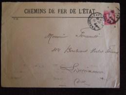 Chemin De Fer De L ' Etat Région Normandie , Train , Gare , Sncf - Marcophilie (Lettres)