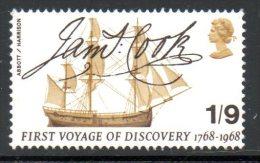 GRANDE-BRETAGNE. N°513 Neuf Sans Charnière (MNH) De 1968. Cook/Endeavour. - Esploratori