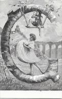 Alphabet Illustré - La Lettre G - Femme Et Enfant - Edition Alterocca Terni - Carte Précurseur, Dos Simple - Autres