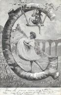 Alphabet Illustré - La Lettre G - Femme Et Enfant - Edition Alterocca Terni - Carte Précurseur - Autres