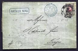 RARE LETTRE CLASSIQUE RUSSIE- EMPIRE-TIMBRAGE N° 25 DE 8 K- GRAND CAD DE MOSCOU 1878 4 SCANS - 1857-1916 Empire