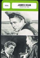 James DEAN - Période 1951/1955- Les Fiches De Monsieur CINEMA- U.S.A   - Recto Verso- Paypal Sans Frais - Merchandising