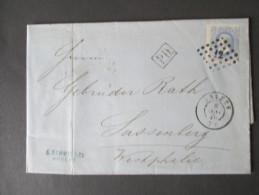 Belgien 1870 Nr. 28 EF. P.D. Anvers Nach Sassenberg. C. Schmid&Cie. Geschäftsbrief. Rechnung. Papier Mit Wasserzeichen - 1869-1883 Leopold II.