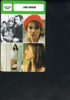 Jane BIRKIN -Les Fiches De Monsieur Cinema - Angleterrre France-  Recto Verso-Paypal Free - Merchandising
