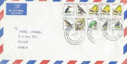 Kenya 2005 Enterprise Road G Kingfisher Dove Guinea Fowl Cotton Papaya Avocado Fruit Cover - Kenia (1963-...)