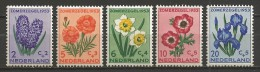 Netherlands 1953 NVPH 602-606 MNH FLOWERS (A) - Periode 1949-1980 (Juliana)