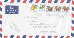 Kenya 2014 Sanit Centre Papaya Avocado Coil Stamps Fruit Peanuts Cover - Kenia (1963-...)