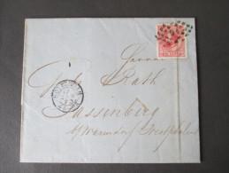 Niederlande 1873 EF Nr 21.  Rotterdam Nach Sassenberg. Punktstempel 91. - 1852-1890 (Wilhelm III.)