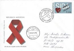 Moldovia 2010 Chisinau AIDS SIDA FDC Cover - Moldavië