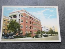 Cp Etats Unis , Virginie , Norfolk , Apartments On Westover Avenue , Ghent , Va - Norfolk