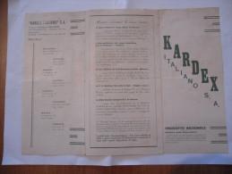 KARDEX ITALIANO MILANO DEPLIANT PUBBLICITARIO FABBRICA MOBILI PER UFFICI - Vieux Papiers